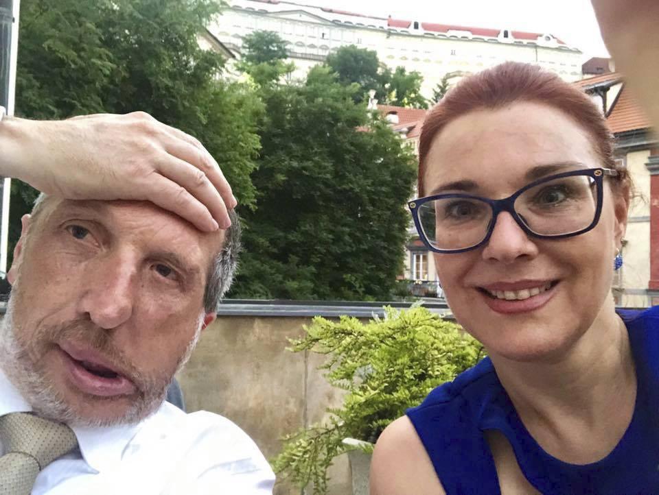 Václav Klaus ml. s poslankyní a spojenkyní Majerovou Zahradníkovou
