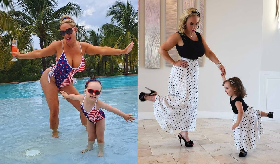 Nicole Austin si zakládá na outfitech dokonale ladících s její dcerou.