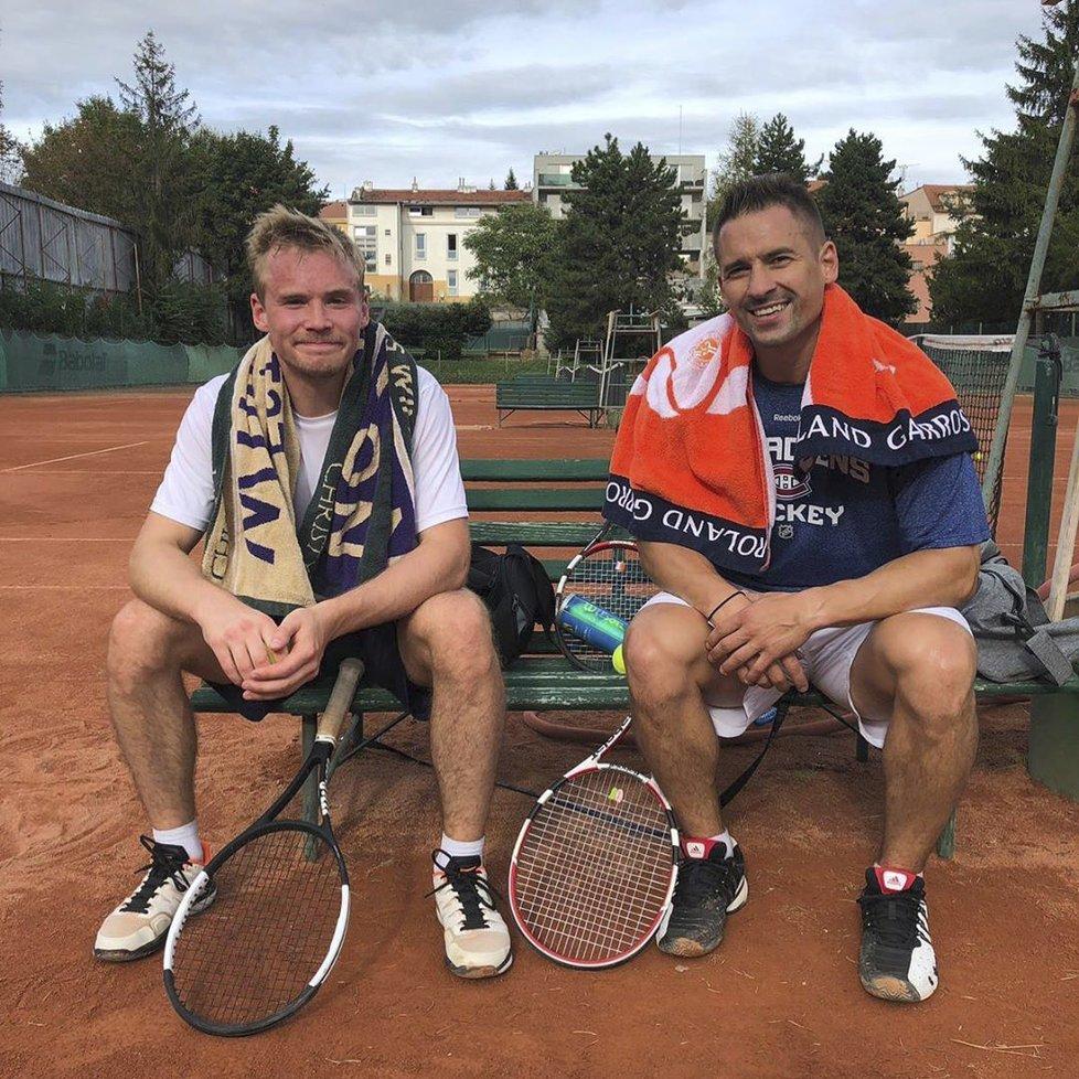 Tomáš Plekanec se pochlubil fotkou z tenisového kurtu na svém instagramu