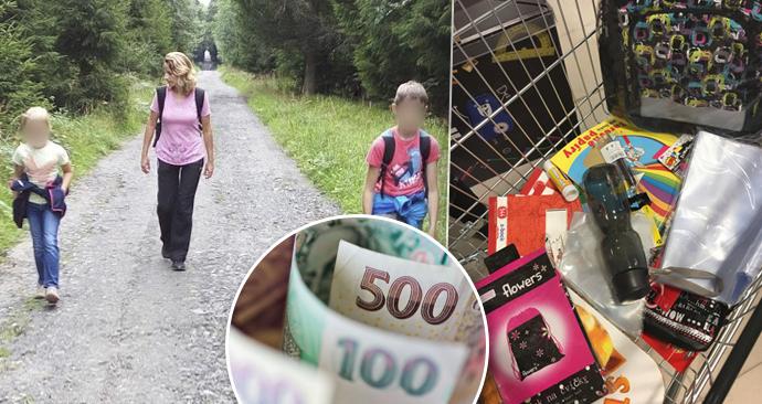 Pro samoživitelku Moniku je začátek školního roku finančně náročný