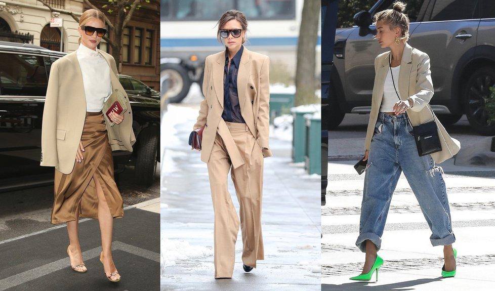 Máte doma béžové sako? Inspirujte se u celebrit, jaké si koupit.