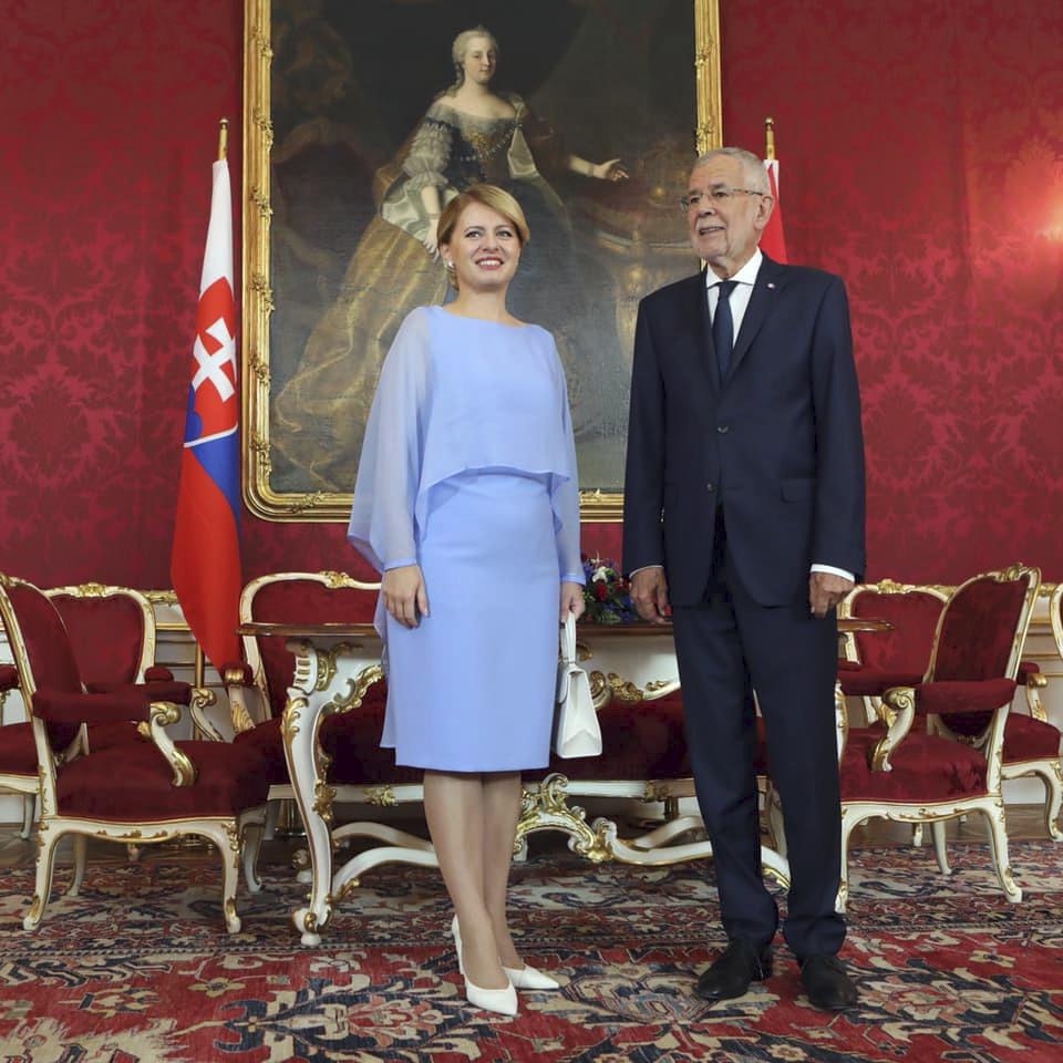 Slovenská prezidentka Zuzana Čaputová na státní návštěvě Rakouska (30. 8. 2019)