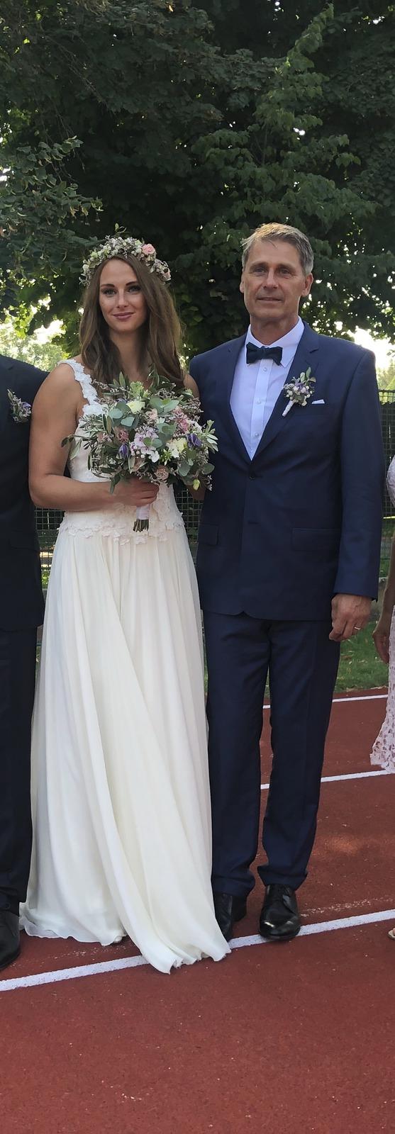 Novopečení manželé Jan Železný a Andrea Drápalová