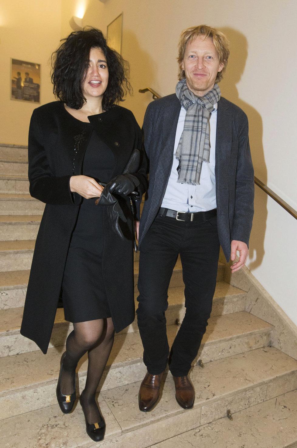 Karel Janeček s manželkou Mariem Mhadbi