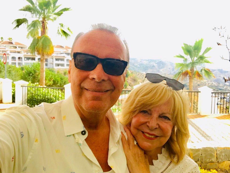 Hanka se Štefanem na dovolené v Malaze