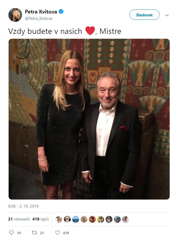 Petra Kvitová o Gottovi na twitteru