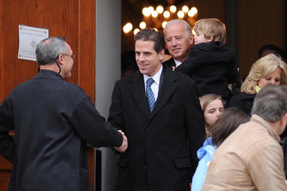 Hunter Biden, syn bývalého amerického viceprezidenta Joea Bidena, který jde za ním