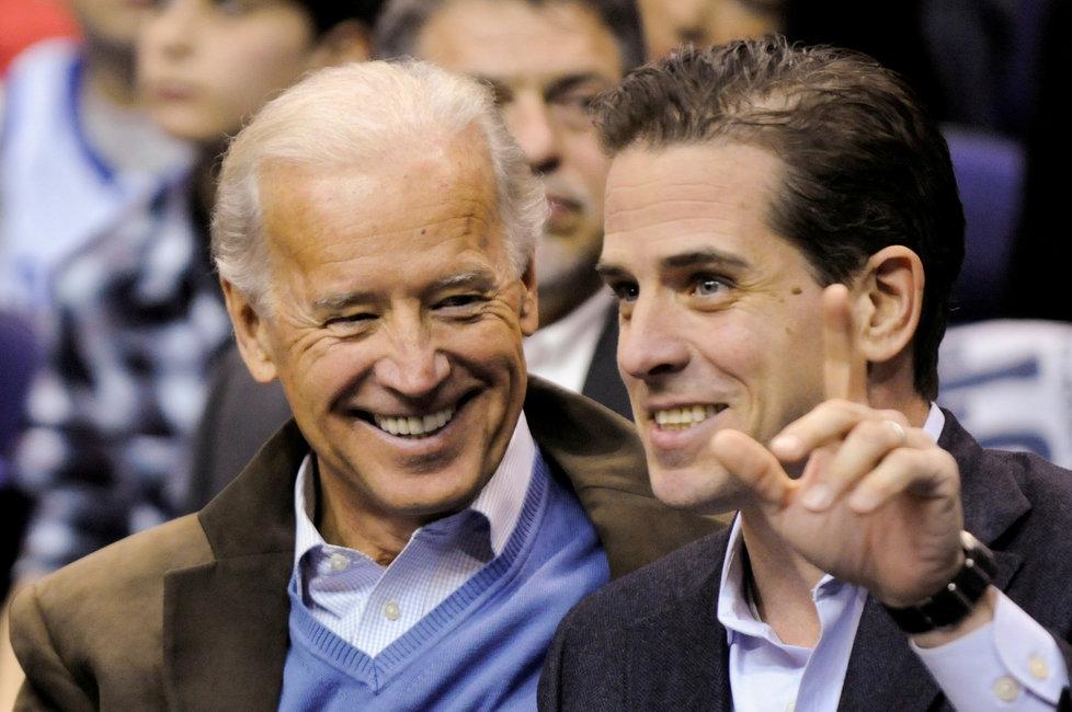 Bývalý Obamův viceprezident Joe Biden se synem Hunterem