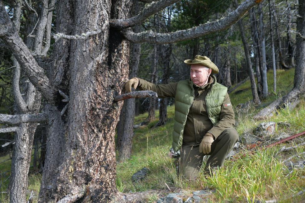 Ruský prezident Vladimir Putin slavil 67. narozeniny na Sibiři.