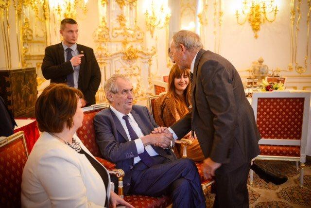 Oslava 75. narozenin Miloše Zemana: Gratulace Jaroslava Kubery (ODS)