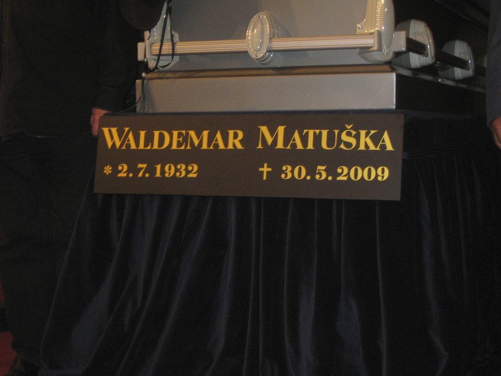 Pohřeb Waldemara Matušky