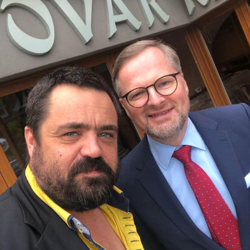Šéf ODS Petr Fiala se setkal s řeporyjským starostou Pavlem Novotným.