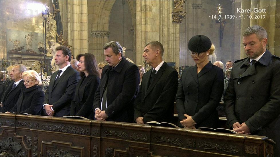 Zádušní mše za Karla Gotta v katedrále svatého Víta