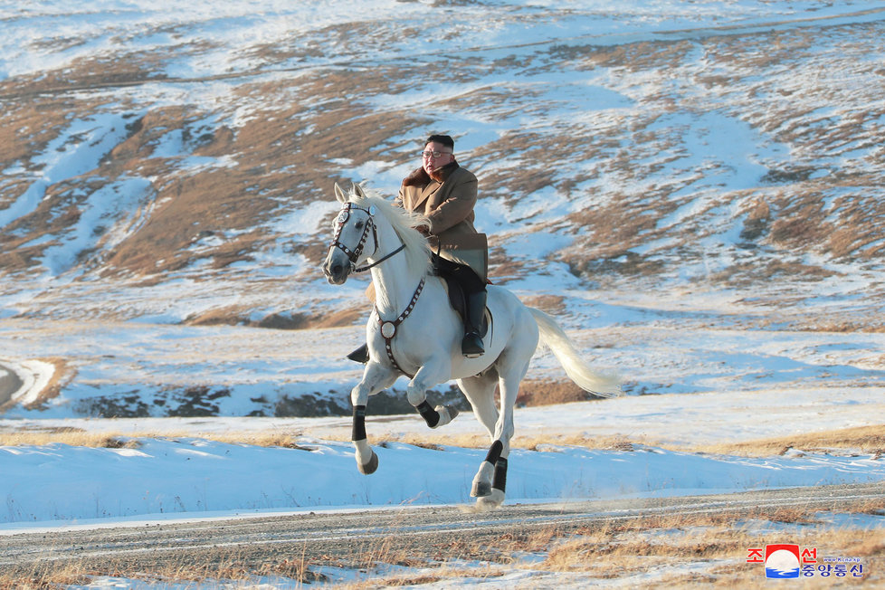 Severokorejský vůdce Kim Čong-un podnikl symbolickou cestu na posvátnou horu.