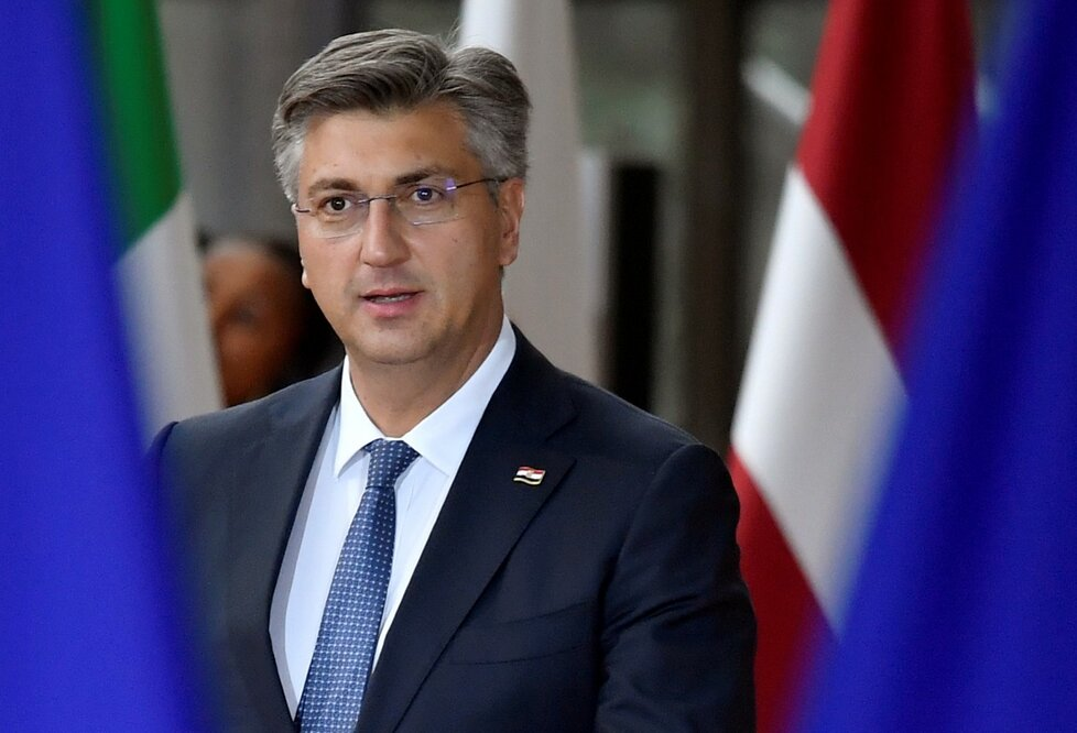 Chorvatský premiér Andrej Plenkovic na summitu EU