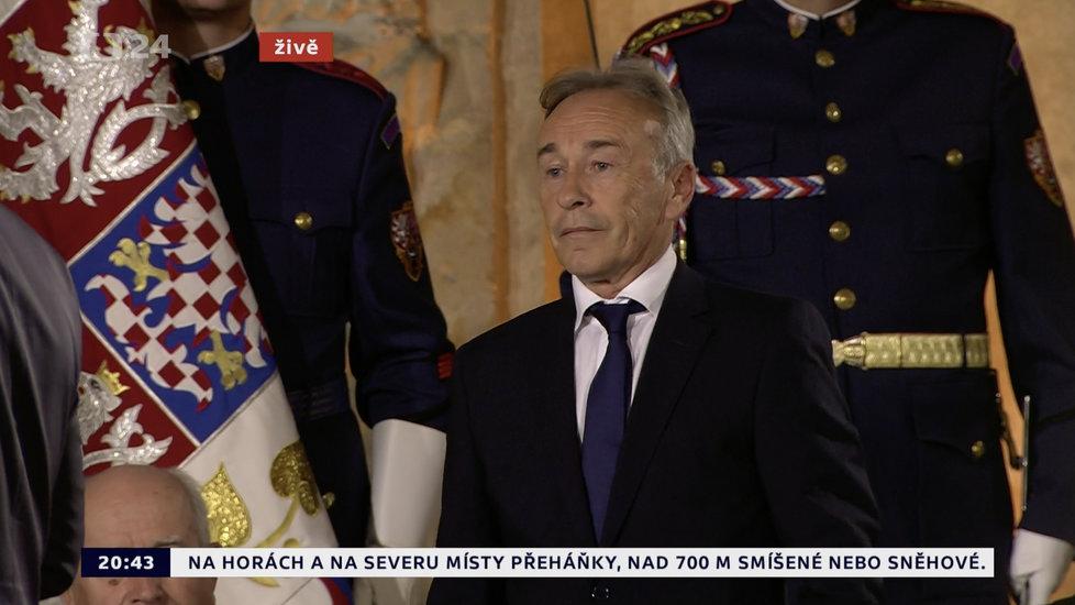 Prezident Miloš Zeman udělil medaili Za zásluhy Emiru Kosturicovi (28. 10. 2019)