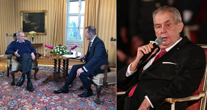 Svůj projev při státním svátku 28. října 2019 pronesl prezident Miloš Zeman vsedě. Poprové v historii. Na vině jsou prý stále více bolavé nohy. Zeman se léčí s neuropatií.