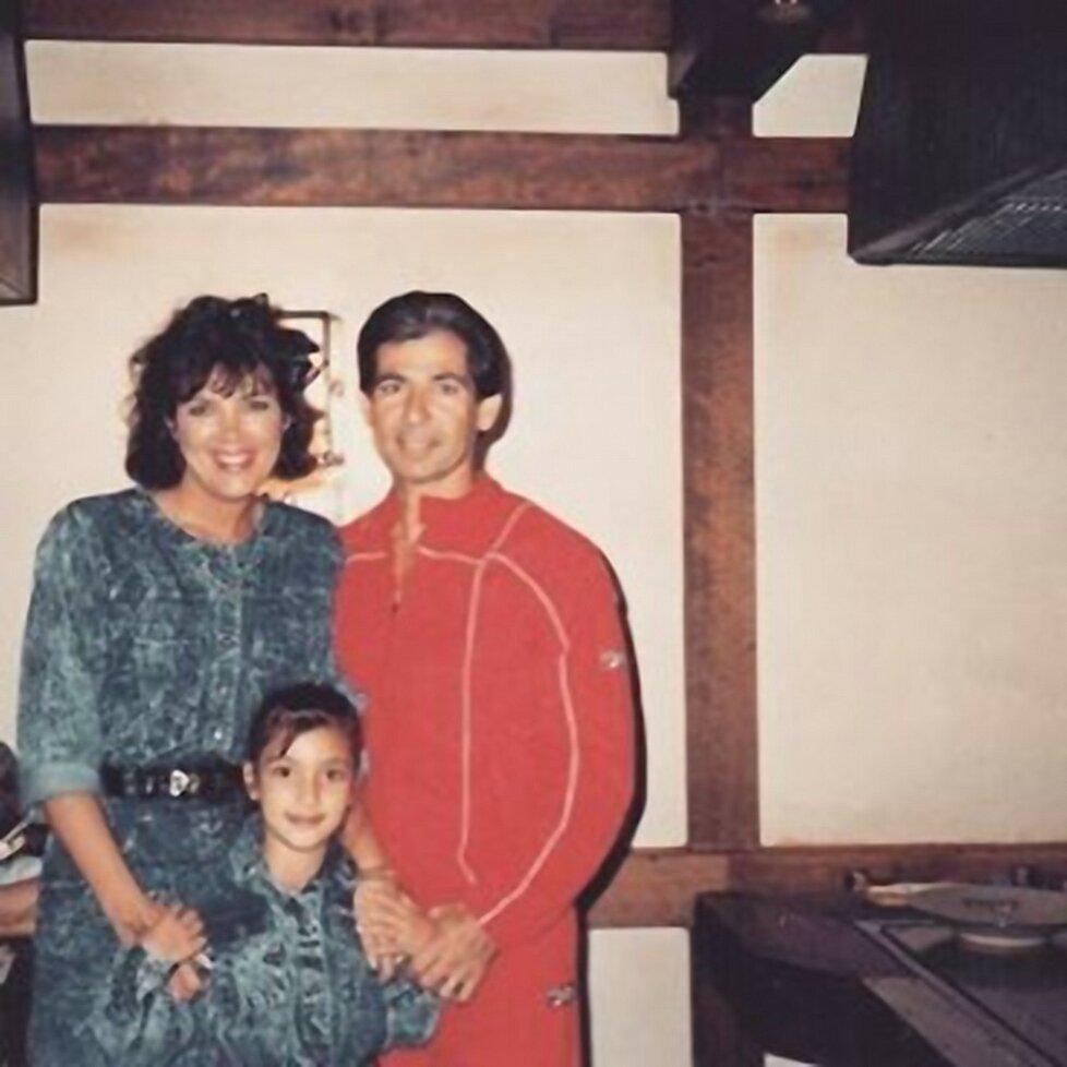 Kris Jenner se svým prvním manželem a malou Kim