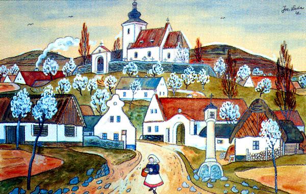 Josef Lada, celkový pohled na Hrusice