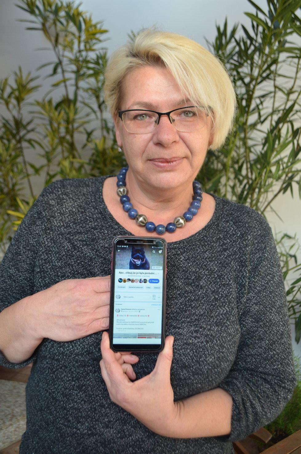 Ivana Pexová podivná úmrtí psů Ludmily Zdeňkové sleduje už dlouho. Skupina, kterou založila na facebooku, si klade za cíl zákaz chovu pro Zdeňkovou