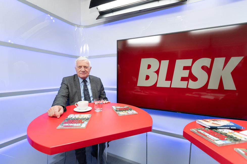 Exprezident Václav Klaus k mimořádnému vysílání Blesk.cz na 30. výročí sametové revoluce.