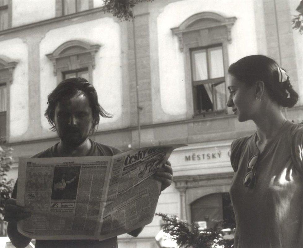 Češi získali svobodu, Petr Fiala manželku. S Janou se seznámili během demonstrací v roce 1989.