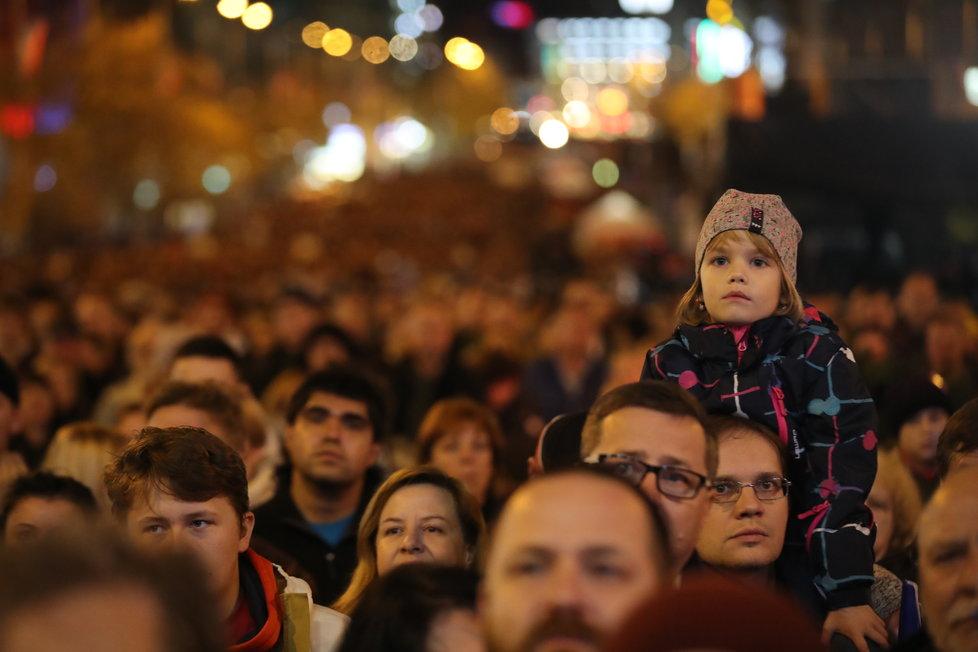 Koncert pro budoucnost na Václavském náměstí.