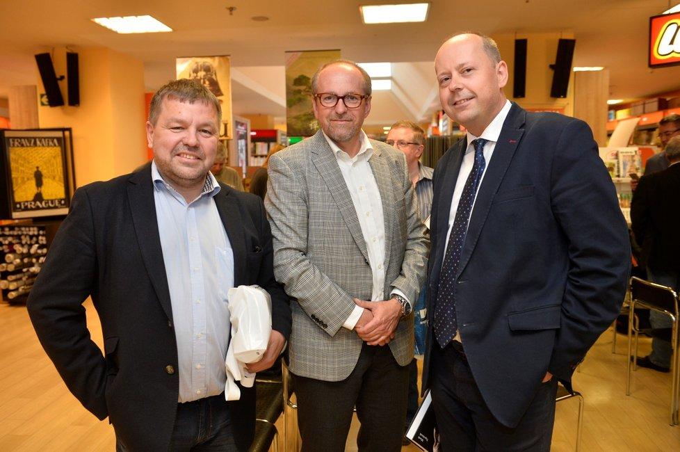 Hlavní postavy kauzy tzv. trafik pro poslance. Zleva Petr Tluchoř,  Ivan Fuksa a Marek Šnajdr
