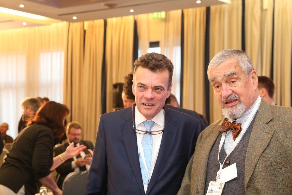 Tomáš Czernin s Karlem Schwarzenbergem