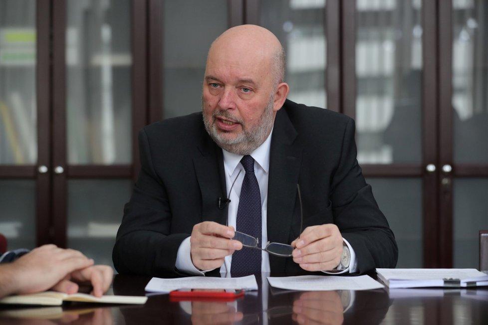Ministr zemědělství Miroslav Toman (za ČSSD)
