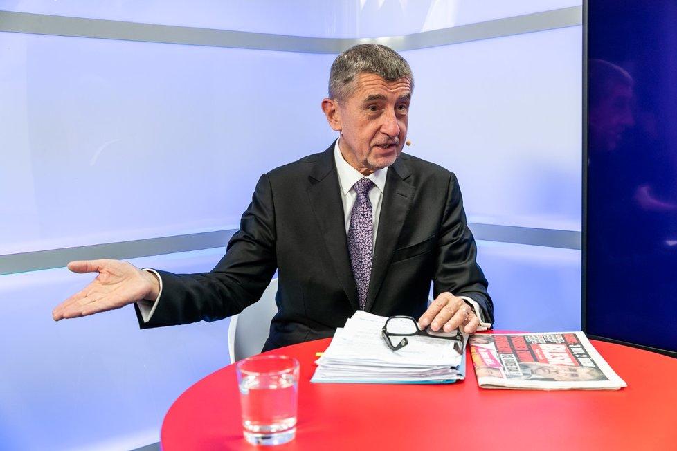 Premiér Andrej Babiš (ANO) byl hostem pořadu Epicentrum dne 5. 12. 2019.