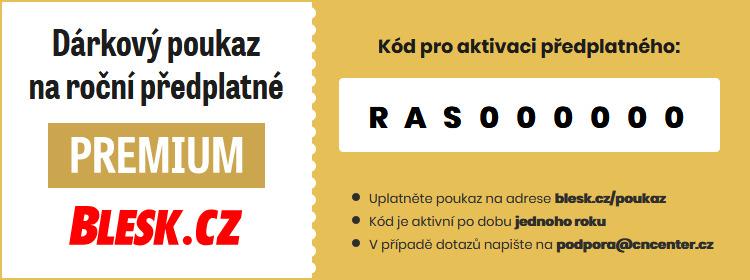 Kupon s kódem pro aktivaci služby Blesk Premium