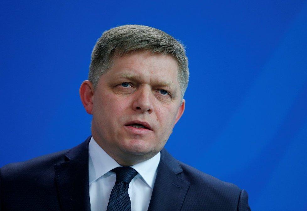 Slovenský expremiér a předseda vládního Smeru Robert Fico