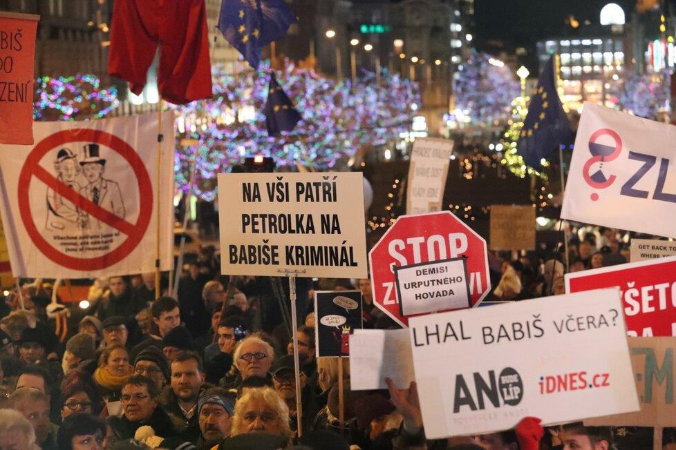 Demonstrace za odstoupení premiéra Andreje Babiše (10. 12. 2019)