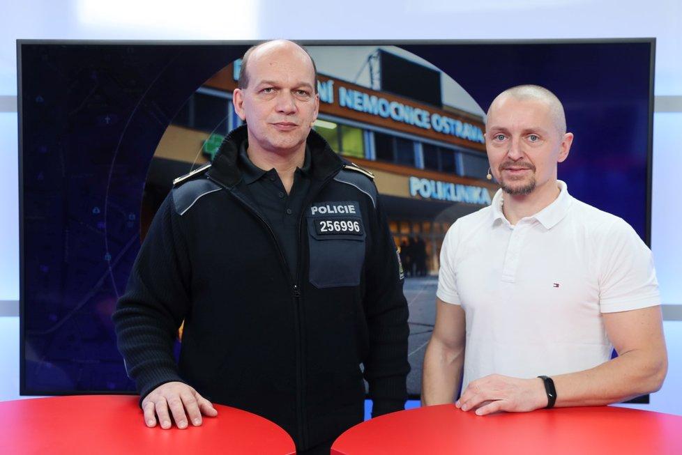 Náměstek policejního prezidenta Martin Vondrášek byl hostem pořadu Epicentrum dne 11.12.2019. Vpravo moderátor Bohuslav Štěpánek