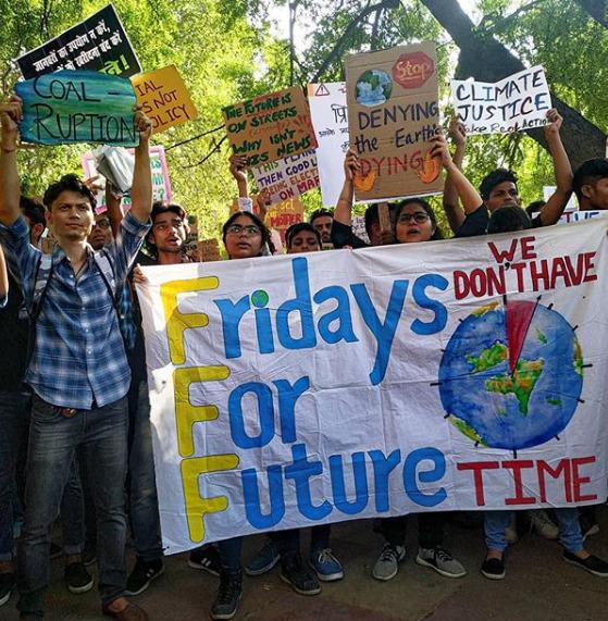 Klimatické protesty v Indii.