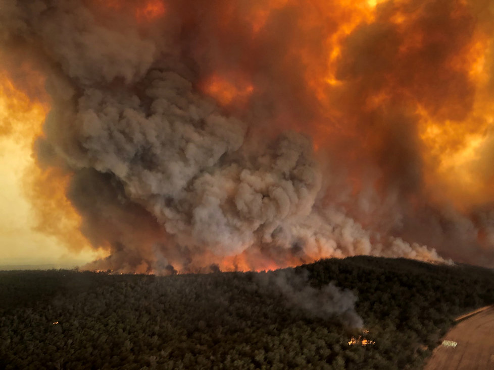 Ničivé požáry v Austrálii, (02.01.2020).
