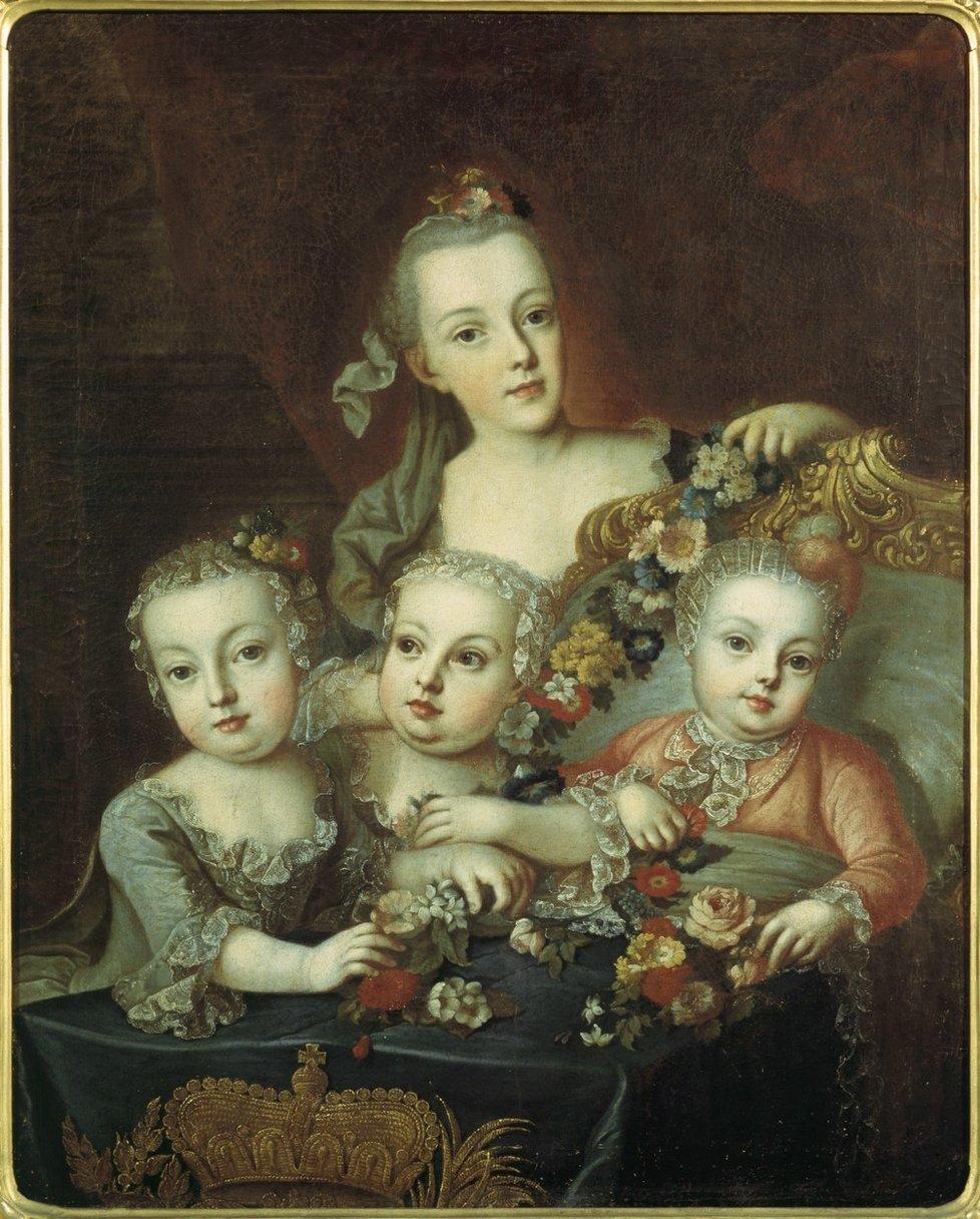 Marie Terezie s dětmi