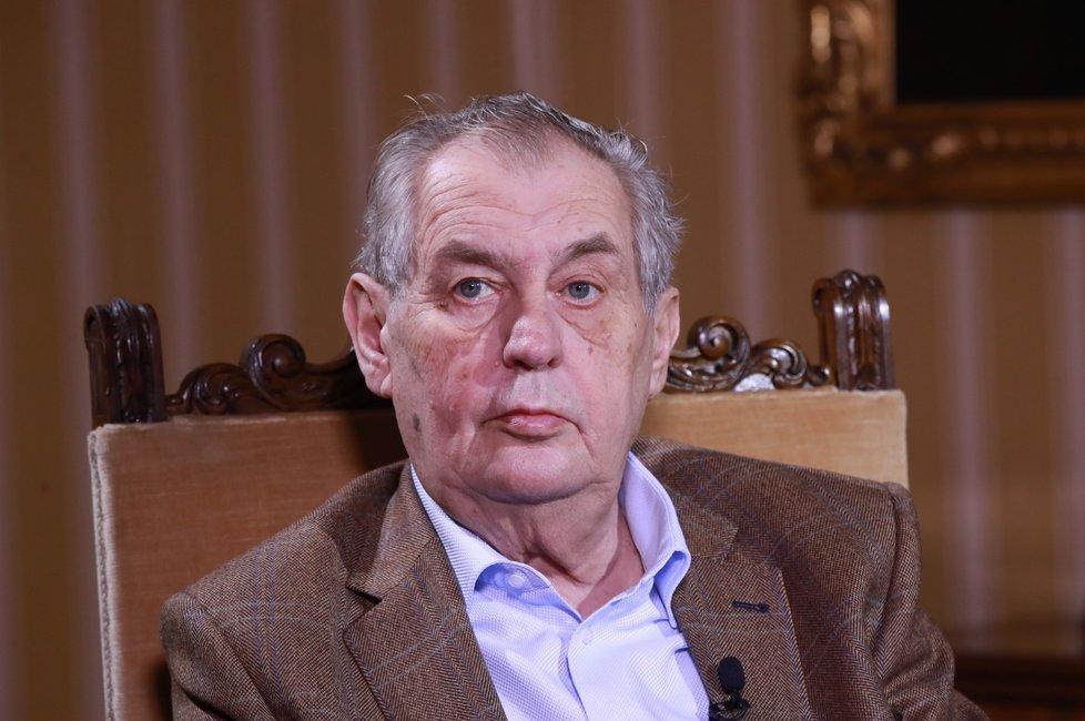 Miloš Zeman v pořadu Blesk.cz S prezidentem v Lánech (12. 1. 2020)
