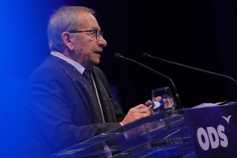 29. kongres ODS: Šéf Senátu Jaroslav Kubera během proslovu (18.1.2020)