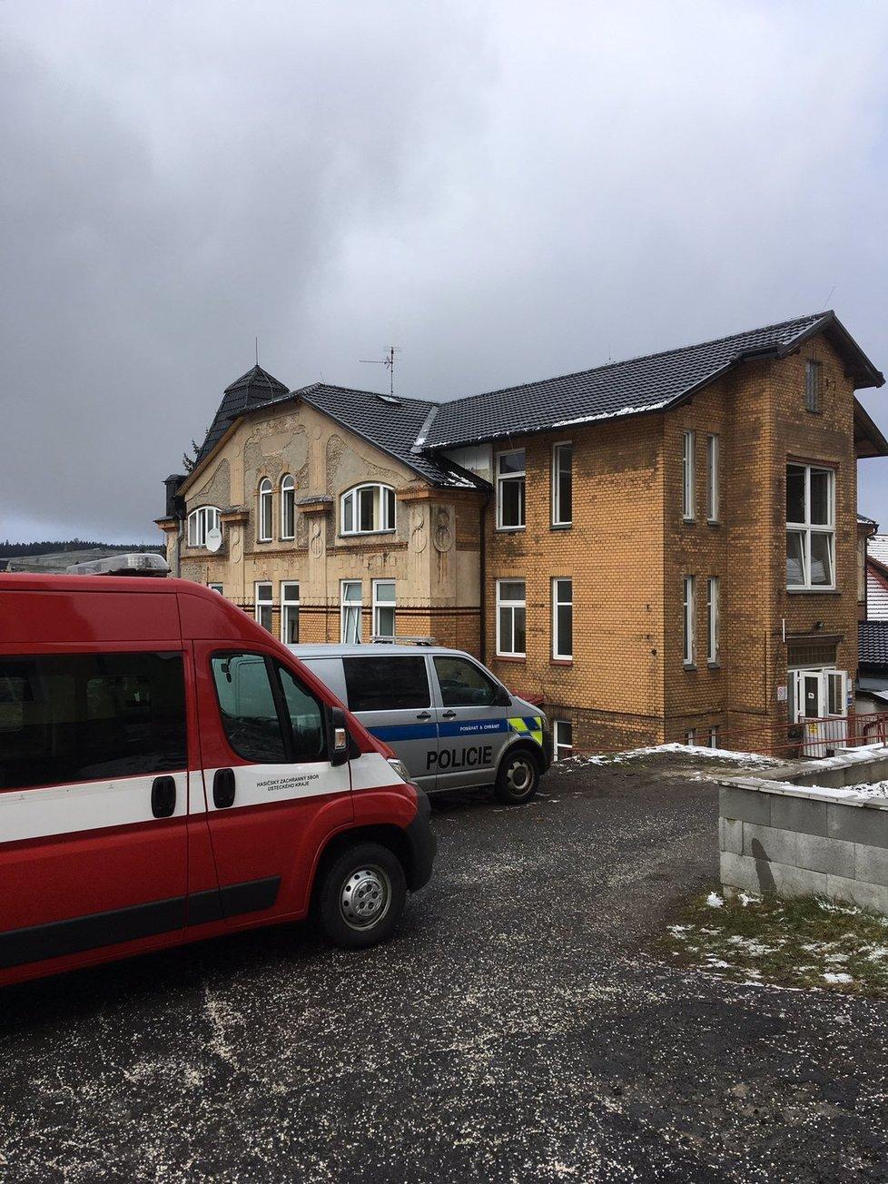 Fotografie domova pro postižené, které zveřejnili po zásahu ústečtí hasiči