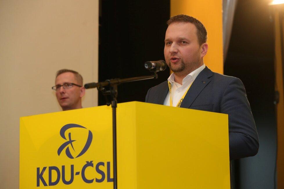 Výborného vystřídal v čele KDU-ČSL Jurečka (25. 2. 2020)