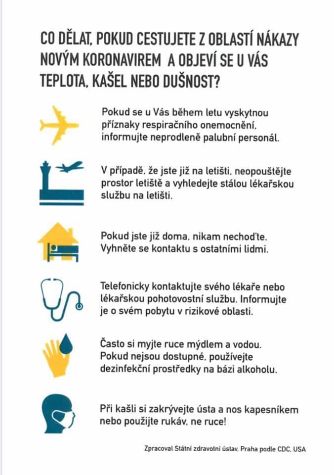 Praktické rady pro Čechy ke koronaviru
