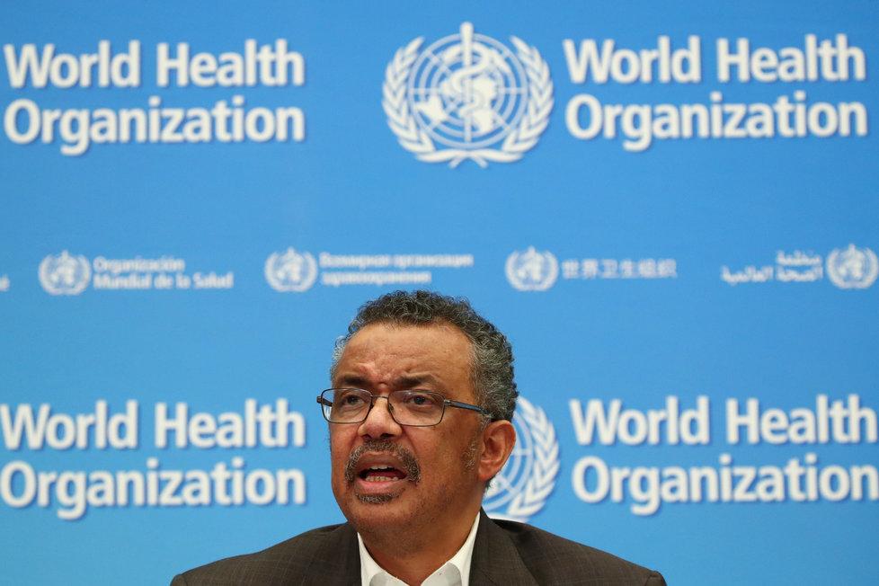 Generální ředitel WHO Tedros Adhanom Ghebreyesus vysvětloval, proč Světová zdravotnická organizace vyhlásila globální stav nouze kvůli koronaviru (30. 1. 2020).
