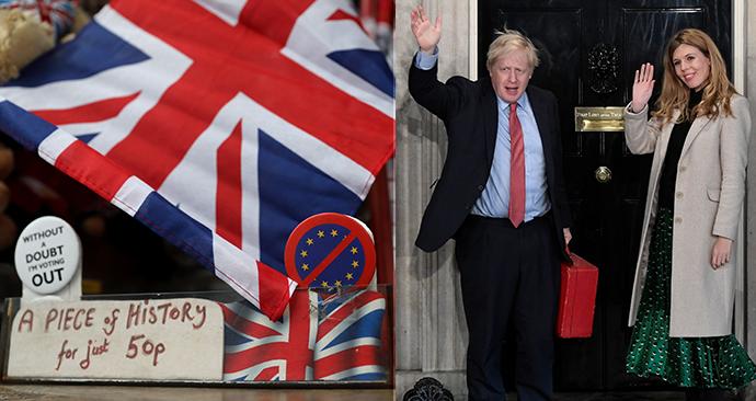 Premiér Johnson dosáhl brexitu (31. 01. 2020).