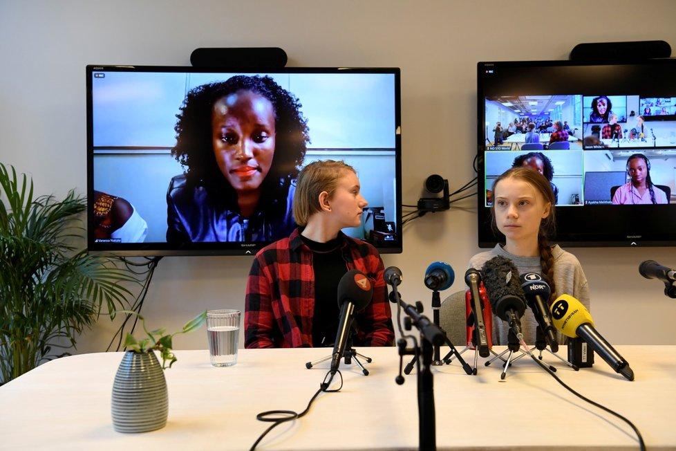 Thunbergová se snaží dostat africké aktivisty z mediálního stínu. (31. 1. 2020)