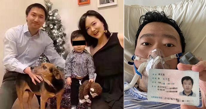 Doktor Li Wen-liang (†34) zemřel na koronavirus, před kterým varoval již loni. Nechal po sobě syna a těhotnou manželku