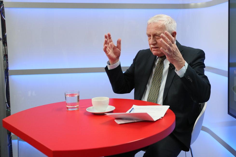 Exprezident Václav Klaus byl hostem pořadu Epicentrum na Blesk.cz (10.2.2020)