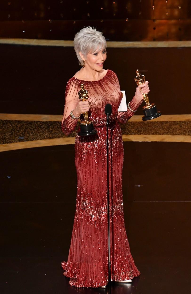 2020 - Jane Fonda na udílení Oscarů.
