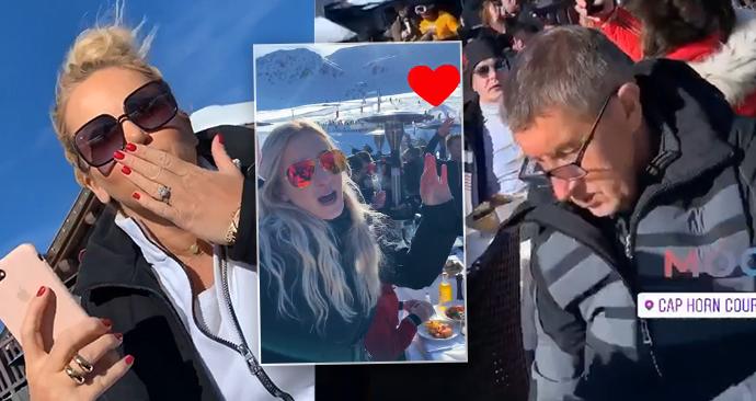 Babišovi na zimní dovolené v luxusním alpském resortu letos v únoru